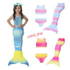 Child kids swimming mermaid tails with monofin for girl swimmwear mermaid tail