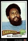 1975 Topps #335 Russ Washington Chargers NM/MT $3.25 USD