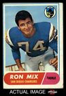1968 Topps #89 Ron Mix Chargers VG $1.7 USD