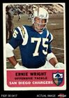 1962 Fleer #83 Ernie Wright Chargers VG $10.0 USD