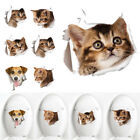 3D Hole View Vivid Dog Cats Wall Sticker Bathroom Toilet Bowl Fridge Decor Decal