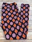 Lularoe TC Legings Black Mint Orange Medallion Lantern Cute! NWOT!