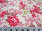 Discount Fabric Quilting Cotton Pink and Tan Floral 305K