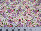Discount Fabric Quilting Cotton Purple and Pink Springtime Floral 309K