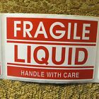 "Fragile Liquid Handle With Care 2""x3"" - Packing Shipping Handling Warning Labels"