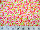 Discount Fabric Quilting CottonPink, Yellow and Green Floral 310K
