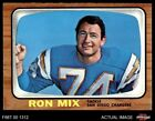 1966 Topps #128 Ron Mix Chargers EX/MT $14.5 USD