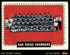 1964 Topps #175 San Diego Chargers Team Chargers VG $3.75 USD