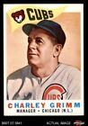 1960 Topps #217 Charley Grimm   -  Cubs EX