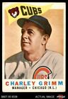 1960 Topps #217 Charley Grimm   Cubs VG