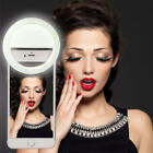 New Selfie LED Ring Flash Light Camera Photography For iPhone Mobile Phone x