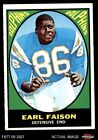 1967 Topps #75 Earl Faison -  Dolphins EX/MT $34.5 USD