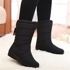 Women Winter Warm Snow Boot Faux Fur Lining High Buckle Shoes