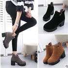 Womens Fur Boots Warm Lining Low Heel Ankle Boots