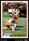 1981 Topps #242 Rolf Benirschke Chargers NM/MT $1.0 USD on eBay