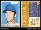 1970 Topps #478 Bob Heise Giants EX MT