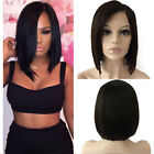 Unprocessed Italian Virgin Human Hair Wig Lace Front Wig Bob Straight Wavy GF31