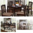 5-Piece Dining Set Wood Padded Seats Table 4 Chairs Dinette Kitchen Choose Color