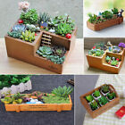 Wooden Garden Herb Planter Window Box Trough Pot Succulent Flower Plant Bed Box