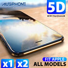 iPhone X 8 7 6s Plus 5D Full Coverage Tempered Glass Film Screen Protector Apple