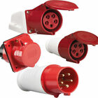 5 PIN Red 415V 16AMP Industrial IP44 Weatherproof Plug & Sockets