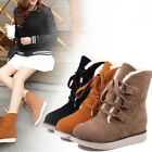 Fashion Women Boots Snow Warm Winter Lace Up Ankle Boots Ladies Winter Shoes NEW