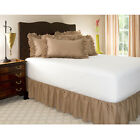 New! 600-TC SPLIT Corner Ruffle Bed Skirt Egyptian Cotton Solid Taupe All Size