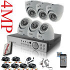 CCTV 8 Channel HD 4MP 1080P Night Vision Outdoor DVR Home Security System Kit