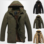 Stylish Mens Parka Parker Padded Lined Winter Jacket Casual Hooded Coat New 2018