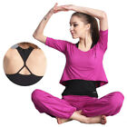 Womens Running Fitness Yoga Clothing Clothes Gym Workout Shirt Tee Long Pants