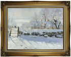 Monet The Magpie Wood Framed Canvas Print Repro 18x24