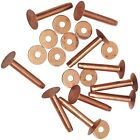 "20 Piece Solid Copper Rivets W/Burrs 5/8""-3/4""-1"" and 1-1/4"" #10"