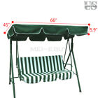 "Patio Outdoor Garden Swing 300D Canopy Replacement Porch Top Cover Seat 66""x45"""