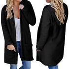 US Women's Fashion Warm Hooded Long Coat Jacket Trench Windbreaker Outwear tops