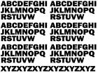 15mm Capital Letters. Use for house, bins, sports, Take Away Menu's, Games etc.