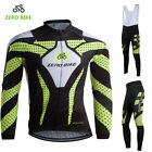 New Men Sport Team Cycling Jersey Sets Bike Bicycle Bib Top Long Sleeve Clothing