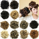 Lady New Pony Tail Hair Extensions Bun Hairpiece Scrunchie As Human Chignon FF7