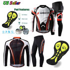 Road Cycling Jersey Pants Suits Men's Bike Gear Clothing Cycle Trousers Gel Pad