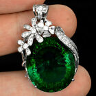 BEAUTIFUL GEMS 30.40 CT BI COLOR TOURMALINE MAIN STONE 925 SILVER WOMEN PENDANT