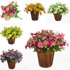 28 Heads Artificial Fake Silk Daisy Flower Bouquet Home Wedding Party Decor QH