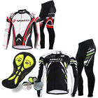 New Men's Bike Clothing Pants Kits Long Sleeve Bicycle Jersey 4D Padded Trousers