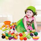 Plastic Fruit Vegetable Kitchen Cutting Toy Kids Toy Gifts Preschool Toys LJ