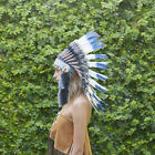 Indian Headdress Chief Real Feathers Bonnet Native American Party Festivals