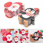 50x Santa Claus Penguin Lollipop Christmas Card lolly sugar-loaf Xmas Toys