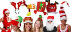 10 PACK CHRISTMAS HATS XMAS FANCY DRESS WORK OFFICE PARTY ADULT LADIES MENS