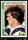 1978 Topps #122 Rolf Benirschke Chargers NM $1.3 USD on eBay