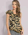 New Karen Millen Tiger Animal Print BNWT £99 Party Evening Corset Top Blouse
