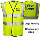 Custom Printed Hi Vis Vests Bulk Buy | Your Logo Printed Any Sizes Small to 4XL