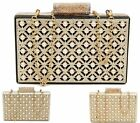 WOMENS CLUTCH BAG CRYSTAL JEWELS CHAIN PARTY PROM BRIDAL EVENING PURSE HANDBAG