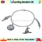 Harry Potter Charm Bracelet Silver Gift Dobby Sorting Hat Ministry of Magic